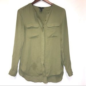 H&M Military Green Blouse